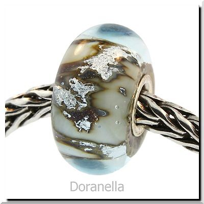 Authentic Trollbeads Glass 62009 Silver Mountain :0
