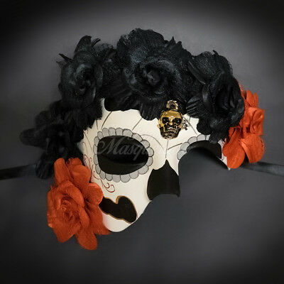 Day of the Dead Mask - Dia de los Muertos Masquerade Mask for Women - Masks Day Of The Dead
