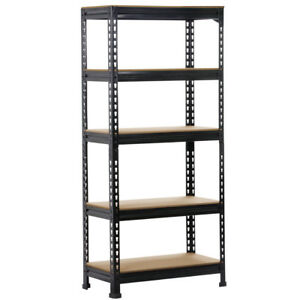 heavy duty storage rack 5 level adjustable shelves garage steel metal shelf unit - Heavy Duty Storage Shelves