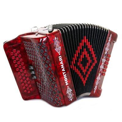 Montanari 3412 3S Acordeon Mi Rojo Accordion EAD