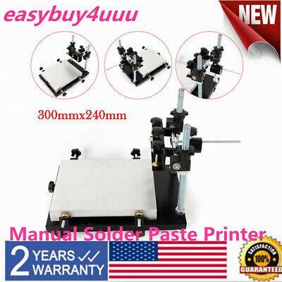 Pcb Smt Stencil Printer 300x240mm Manual Solder Paste Printer Stencil Printer