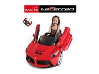 LICENSED LAFERRARI THE FERRARI 12V RIDE ON TOY CAR WITH OPENABLE DOORS AND REMOTE - STUNNING DESIGN