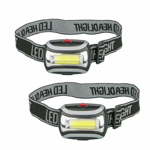 1pc/2pcs COB LED Headlamp Headlight Torch Flashlight Work Light 3 Modes Lamp - $5.79