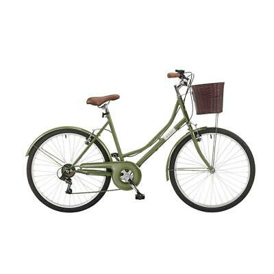 "Coyote Windsor Ladies Classic Heritage Bike - 26"" Wheel, 6 Speed - Green"