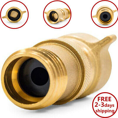 Rv Brass Inline Water Pressure Regulator Camper Lead Free Reducer Gauge 34 New