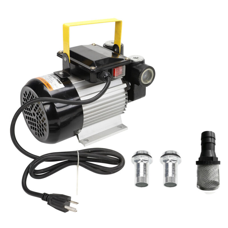 16GPM Portable Commercial Self Priming Electric Oil Pump Transfer Fuel Diesel