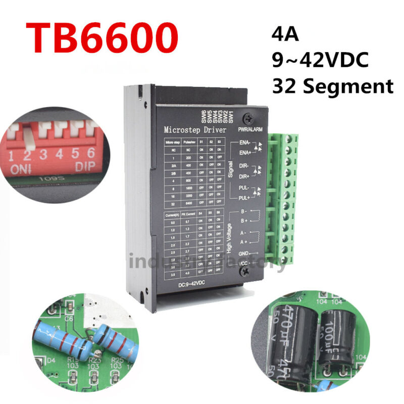 CNC Driver Controller TB6600 Single Axis 4A Stepper Motor 9~42VDC Drive Module