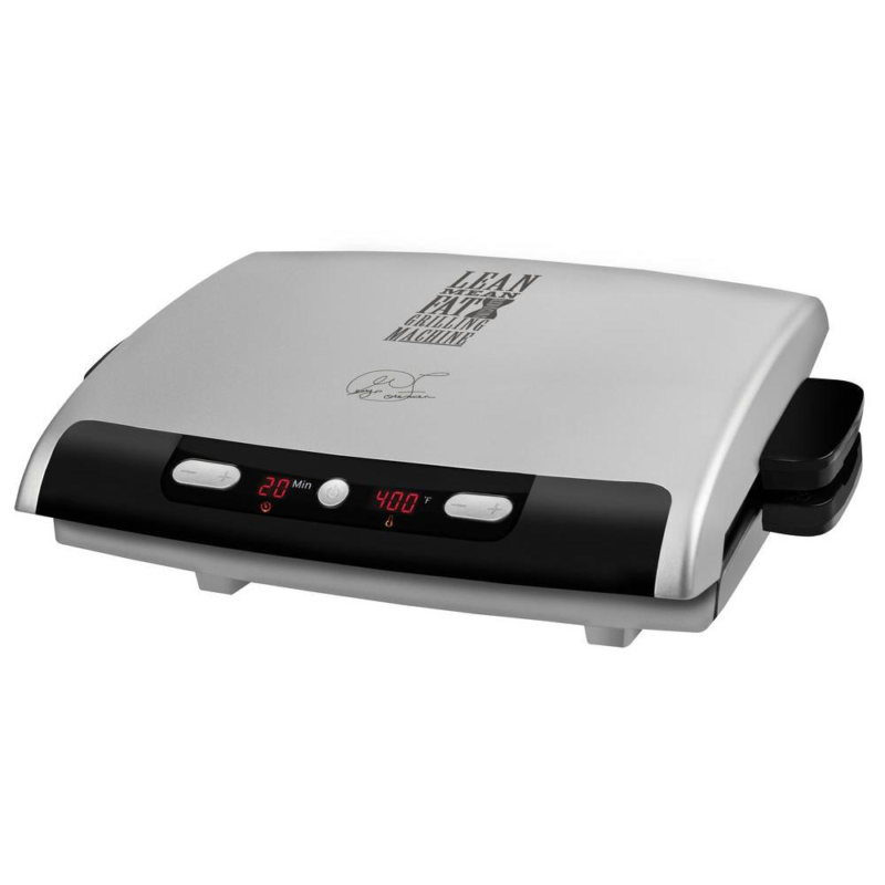 George Foreman GRP99 100 sq. in. Silver Indoor Grill with Re