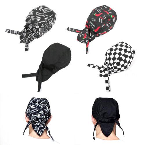 Neu kochmütze aus Baumwolle größenverstellbar  Kopfbedeckung Kochmütze Kochhut