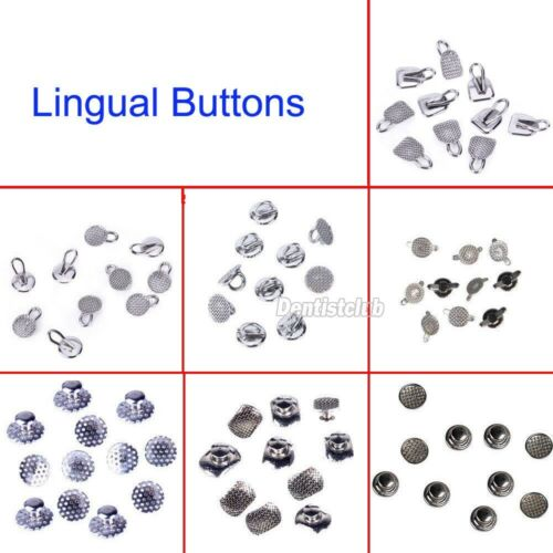 8 Models Dental Orthodontic Lingual Buttons Bondable Round Mesh Base 10pcs/bag