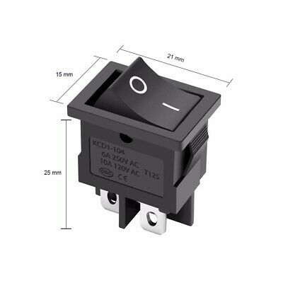 4-pin Dpst Onoff Rocker Switch Alto Pa Speaker Power Button Hi00019 Hi00475