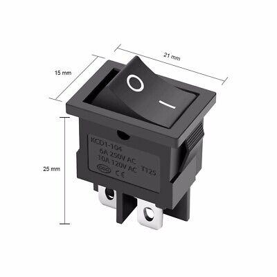 4-pin Dpst Onoff Rocker Switch Alto Pa Speaker Power Button Hi00019 Hi00475