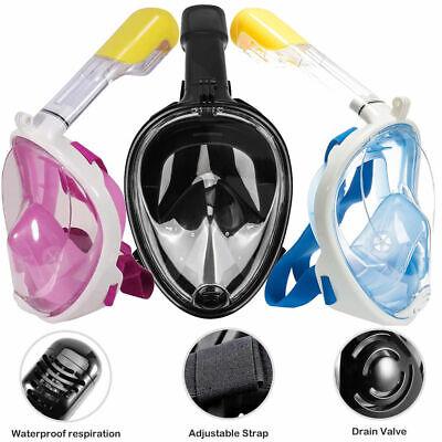 Maschera subacquea intera integrale snorkeling SUB immersione boccaglio colorata