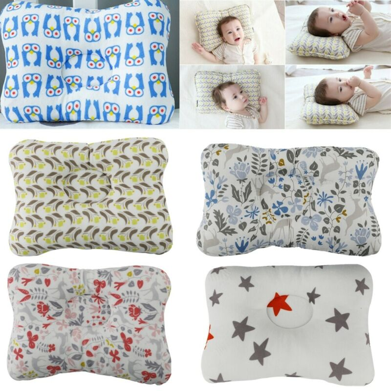 Baby Infant Newborn Pillow Flat Head Sleeping Support Prevent  0-2 year