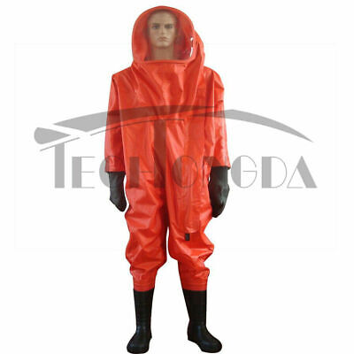 Fully Enclosed Chemical Protective Anti-liquid-ammonia Suit Heavy Type