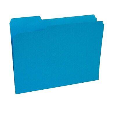 Staples Colored File Folders 3-tab Letter Blue 100box 224527