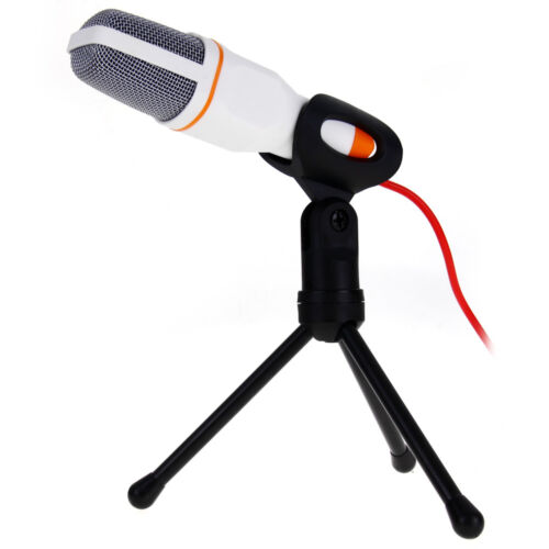 Microfono a Condensatore Microphone MIC pour PC Chat Studio KTV DJ + Treppiedi