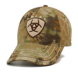 ariat western mens hat baseball cap shield logo one size