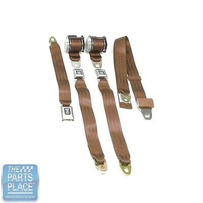 Used, 1978-88 GM G Body Cars Factory Style Rear Seat Belts - Set - Tan for sale  Shipping to Canada