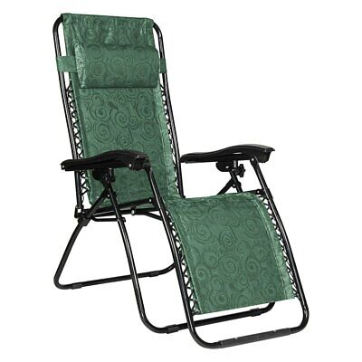 Camco Open Air Zero Gravity Reclining Lounge Chair 51811 Green Swirl for sale  Shipping to India