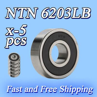 5 New 6203lb Ntn Radial Ball Bearing 2rs General Purpose Honda Kawasaki