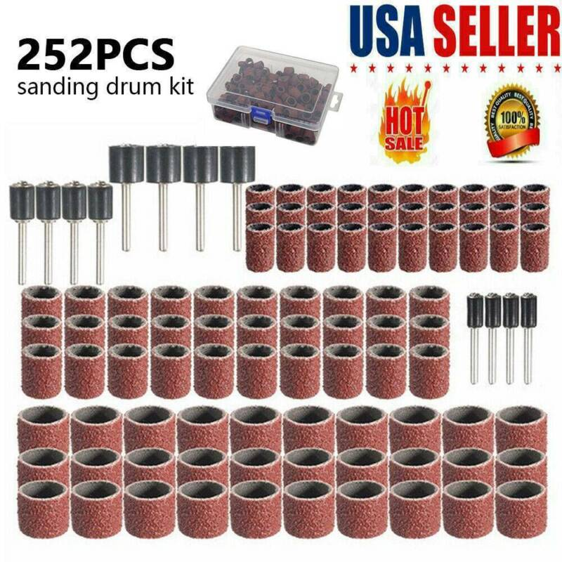 252X Drum Sanding Kit For Nail Drill Bits Dremel Accessories