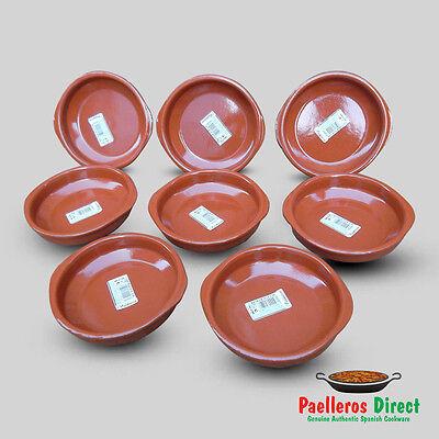 Set of 8 x 14cm Spanish Terracotta Tapas Dishes / Cazuelas