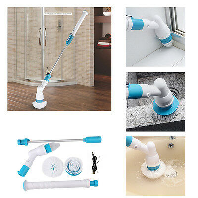 Recharge Spin Scrubber Power Bathtub Tiles Floor Cleaning Rotating Head Brush
