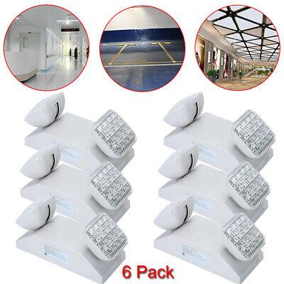 6 Pack Led Emergency Exit Light Battery Backup Commercial Lighting Fixture Lamp