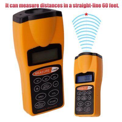 Digitallcd Ultrasonic Tape Laser Point Distance Measure Meter Range Measurer Uu