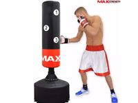 6ft Free Standing Punch Bag Boxing MMA Kick Stand - Gloves, pads and head guards included