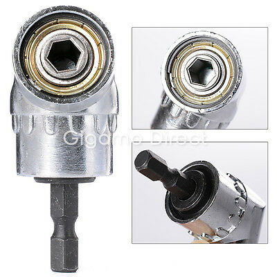 """105° 1/4"""" 6mm Angle Drill Bit Hex Socket Attachment Offset Adapter Driver Holder"""