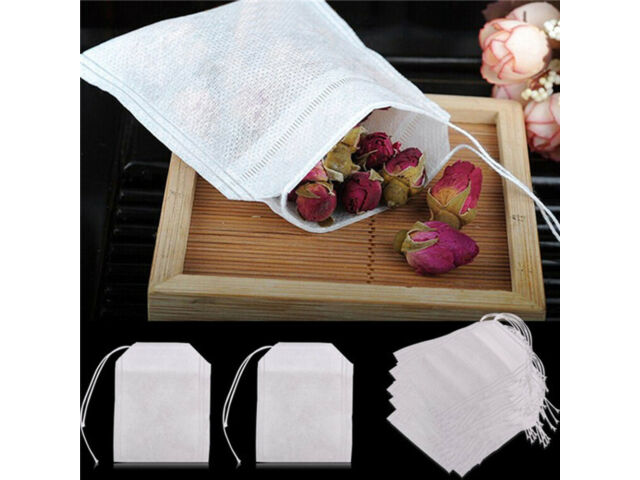 Lots non-woven Empty Teabags String Heat Seal Filter Paper Herb Loose Tea Bag us