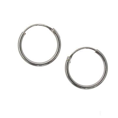 Sterling Silver 10mm Hoop Earrings - PAIR - Small Hoops / Basic Sleepers - 925