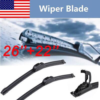 26 22 ALL SEASON Frame BRACKETLESS WINDSHIELD WIPER BLADES Top Quality new