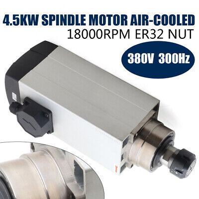 Er32 Spindle Motor 4.5kw Air Cooled 380v 18000rpm 300hz Cnc Woodworking Router