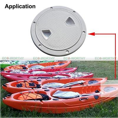 "Usado, 8"" Boat Inspection Hatch Port Cover Round Plastic Access Handy for Boat Kayak vv segunda mano  Embacar hacia Argentina"
