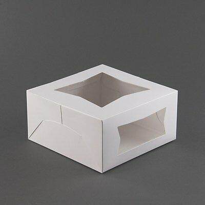 25 Window Bakery Box 10x10x5 White For Cake Pie Cookie Candy Favor Gift