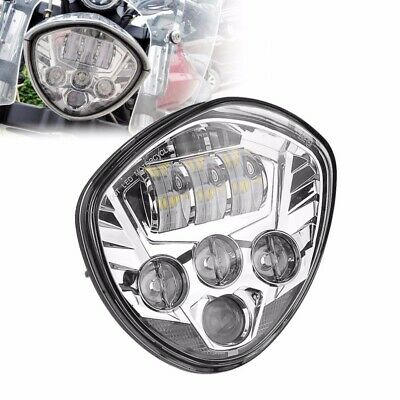 Chrome LED Headlight for Victory Magnum Hammer Vegas Motorcycle