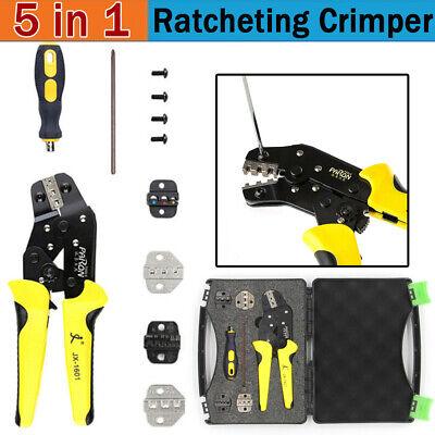 Paron Jx-ds5 Electrical Ratchet Crimper Pliers Cord End Terminals Tool Kit Set