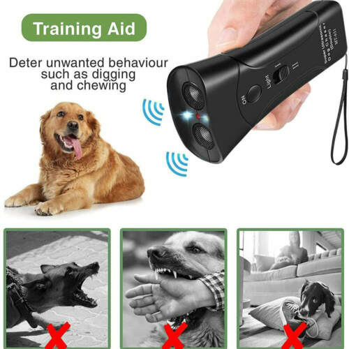 ​Ultrasonic Dog Training Control Trainer Device 3 in 1 Dog Anti-barking Device