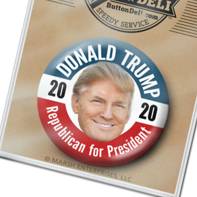 "Donald Trump Photo Head Button - 2020 badge2.25"" metal pinback President"