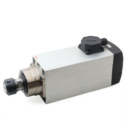 6kw 120mm Air-cooled Square Spindle Motor For Cnc Router Engraving Milling 220v