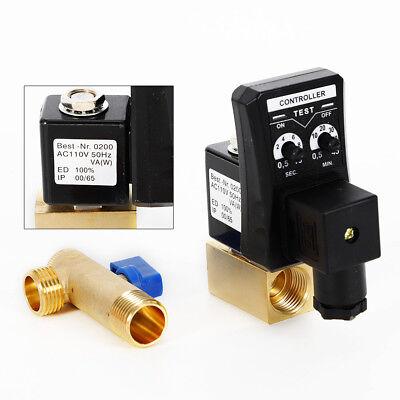 Compressor Condensate Auto Drain Timer Valve 110v 12 2 Way Electric Valve Usa