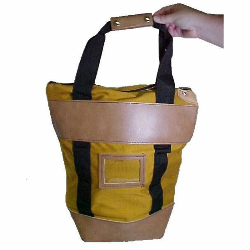 Gold Courier Bag - Locking - Security Mail Bag 15W x 16H x 7D