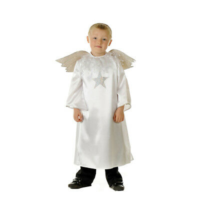 BUY GIRLS KIDS BOYS NATIVITY ANGEL WITH WINGS FANCY DRESS COSTUME OUTFIT AGE 3-7 - Buy Fancy Dress Costumes