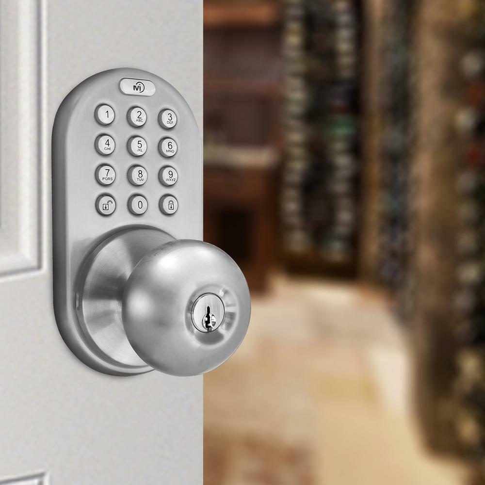 MiLocks DKK-02SN Keyless Entry Touchpad Door Knob Lock