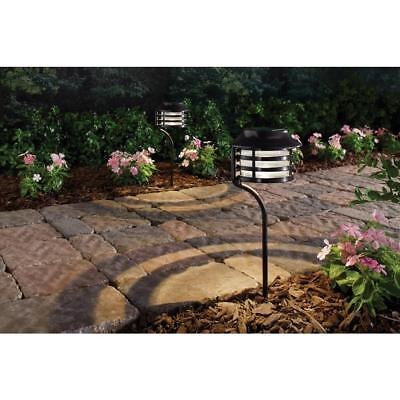 Hampton Bay Solar Bronze Outdoor LED New Age Pagoda Landscape Path Light 4-pack ()