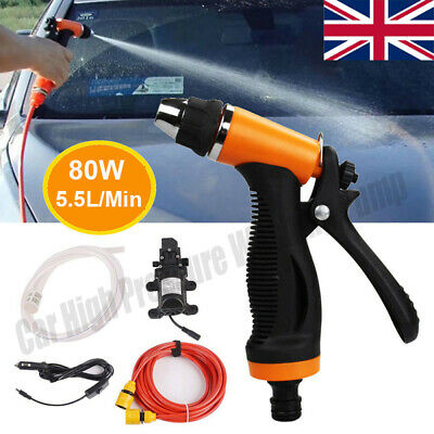 Portable Car Pressure Washer Power Pump 12V 80W Self-priming Electric Wash Kit