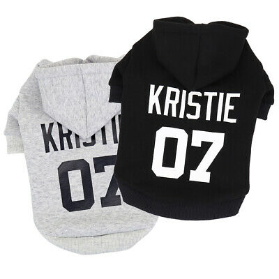 Personalized Dog Hoodie &Name Customized Pet Puppy Cat Clothes Sweatshirt -